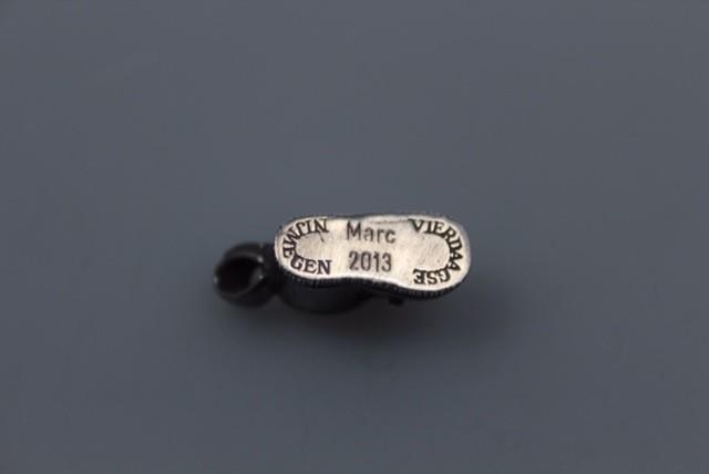 zilveren vierdaagse schoen graveren naam en  jaartal  Nr 18